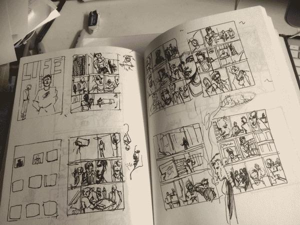 Chetan Patel roughs.